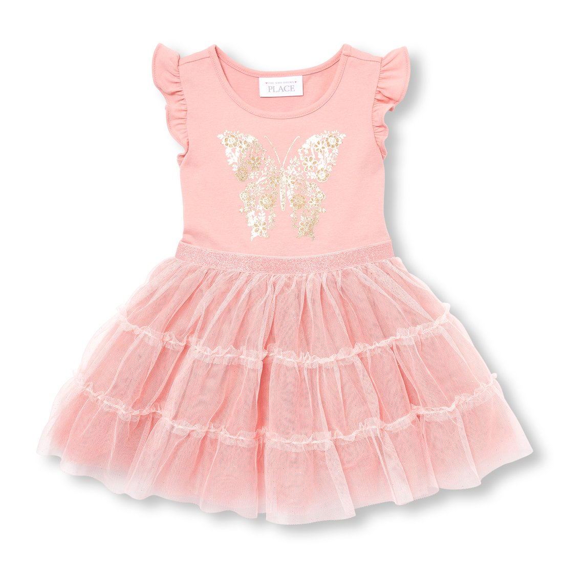 9213558b Amazon.com: The Children's Place Baby Girls Glitter Mesh Dress: Clothing