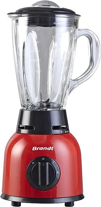 Brandt BLE515R Batidora de vaso 1.5L 500W Negro, Rojo ...