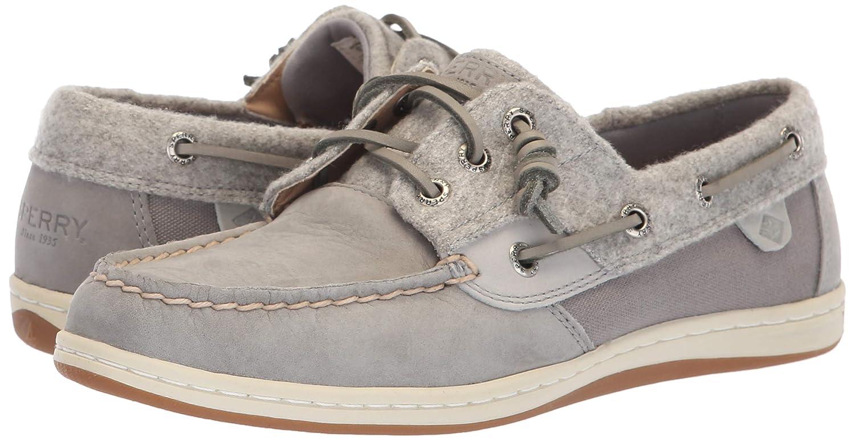 Songfish Boat Shoe, Grey Wool