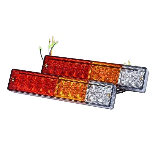 2 opinioni per Eyourlife 2 pezzi 20 LED Fanalino di Coda con Indicatori LED di Coda Camion Luci