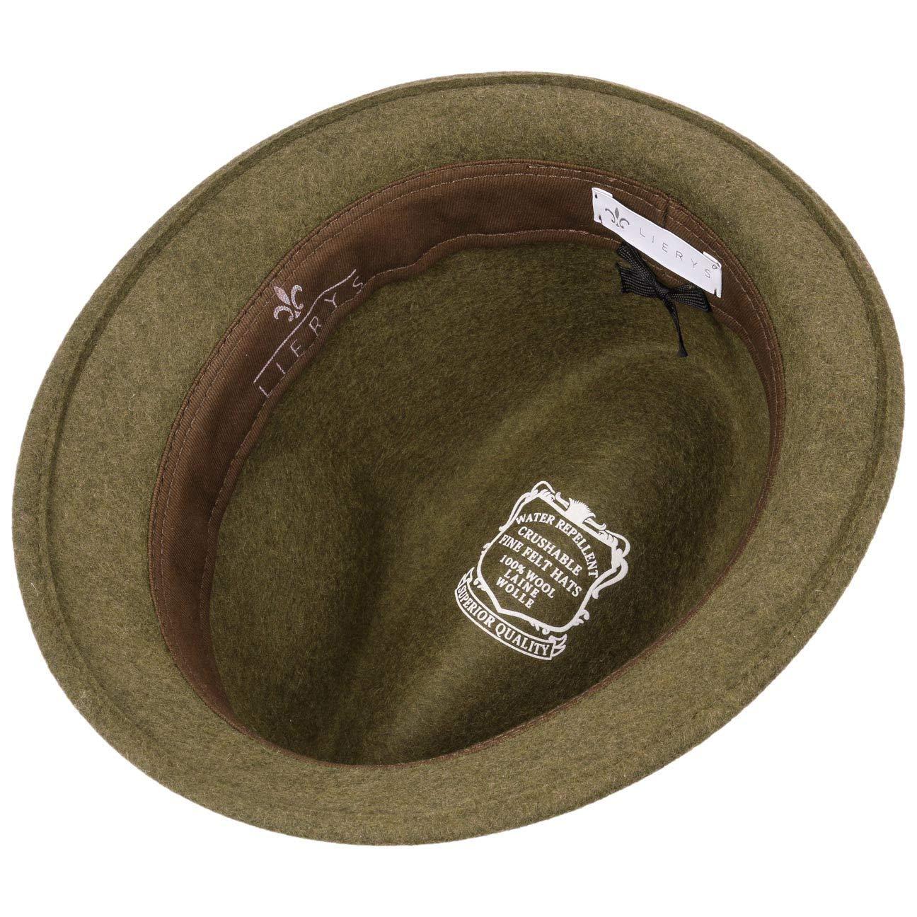 Lierys Casual Melange Trilby Wool Felt Hat Women//Men Made in Italy