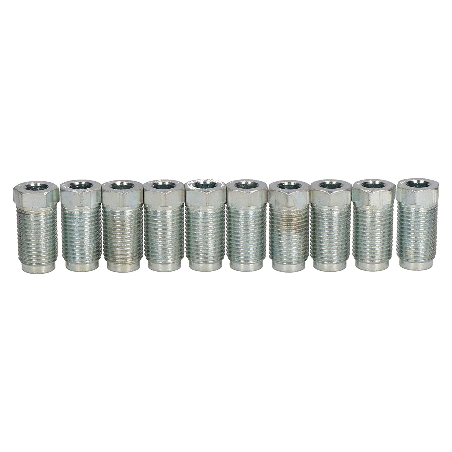 AB Tools-Bond Long Steel Male Brake Pipe Union Fittings 1//2 x 20 UNF for 1//4 Brake Pipe 10pc
