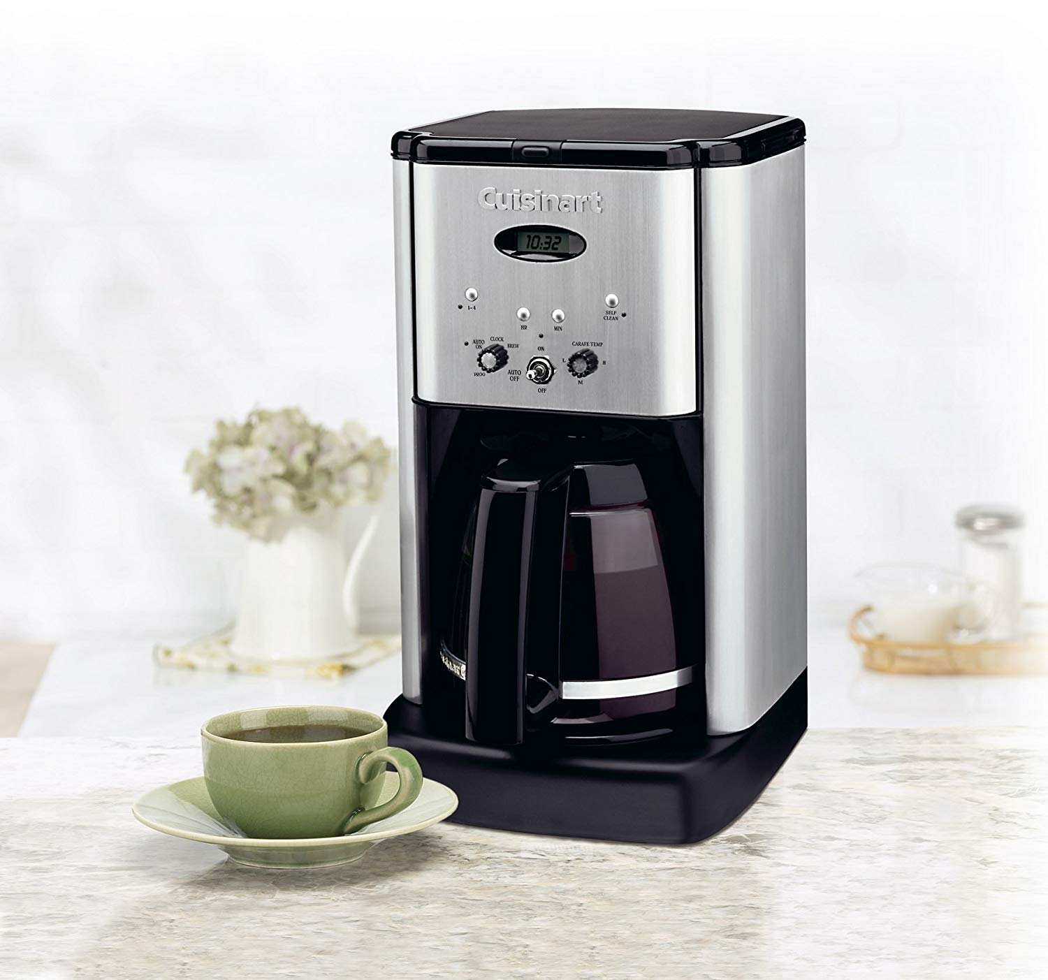 Cuisinart DCC-1200 12 Cup Coffeemaker, Black/Silver With Filters by Cuisinart (Image #3)