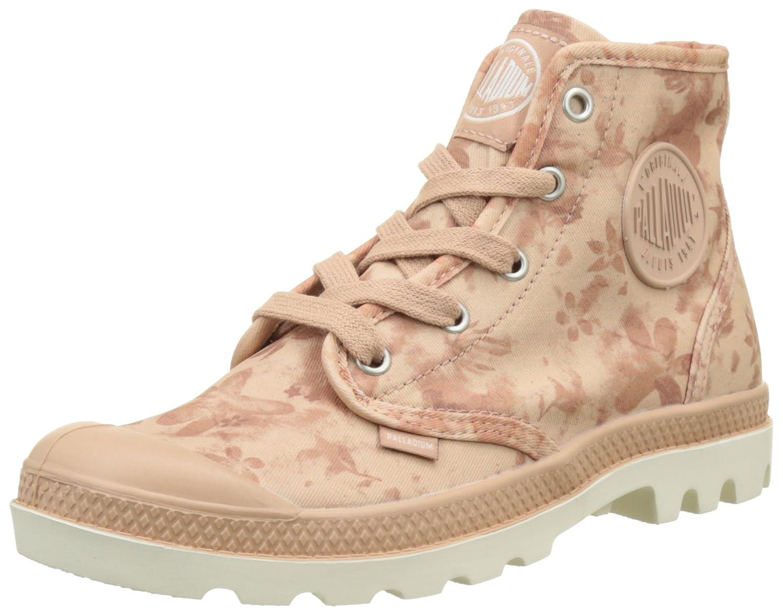 Palladium 92352, Zapatillas Altas de Tela Mujer Rosa (Salmon Rosa/Marshmallow/Floral Print)