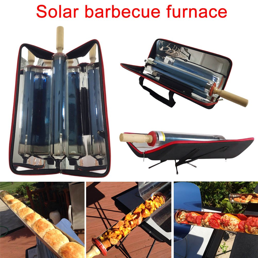 Cutogain Outdoor Portable Solar Grill Folding Metal Barbecue Food Class Cooking Stainless Energy Effectively