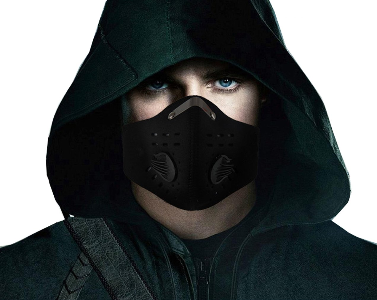Apparel Accessories Men's Accessories Face Mask Cotton Mouth Mask Black Anti Haze Dust Masks Filter Windproof Mouth-muffle Bacteria Flu Fabric Cloth Respirator &2