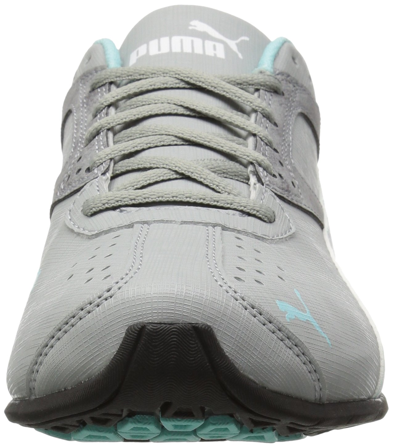 PUMA Women's Tazon 6 Accent WN's Cross-Trainer Shoe B01LPWS4AY 10 B(M) US|Quarry-puma White-aruba Blue