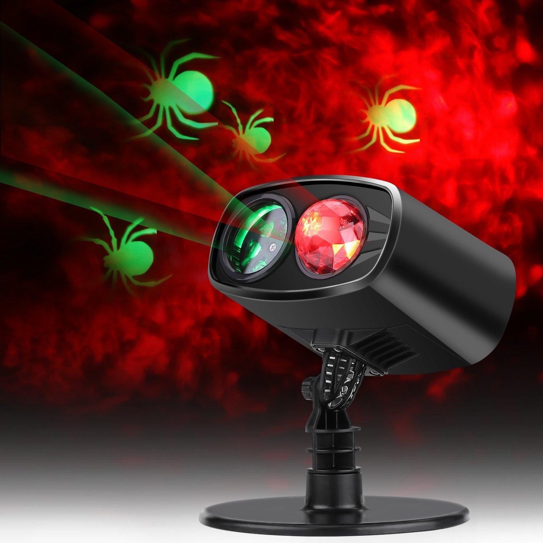 Lightess Halloween Decorations Outdoor Indoor Projector Light Red Spider Waterproof Landscape Lighting, YG-YW-001
