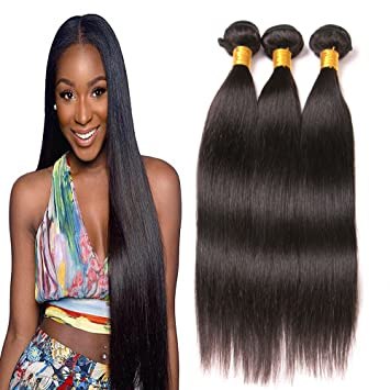 Straight Hair Brazilian Hair 3 Bundles Unprocessed Sew In Hair Extensions  Virgin Remy Human Hair Weave 4cac94f557