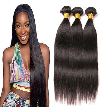 Straight Hair Brazilian Hair 3 Bundles Unprocessed Sew In Hair Extensions  Virgin Remy Human Hair Weave 13c7f807029b