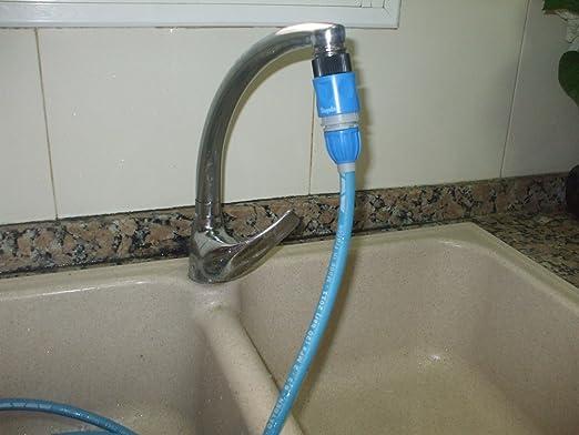 Desatascador ecológico de agua a presión (Azul): Amazon.es ...