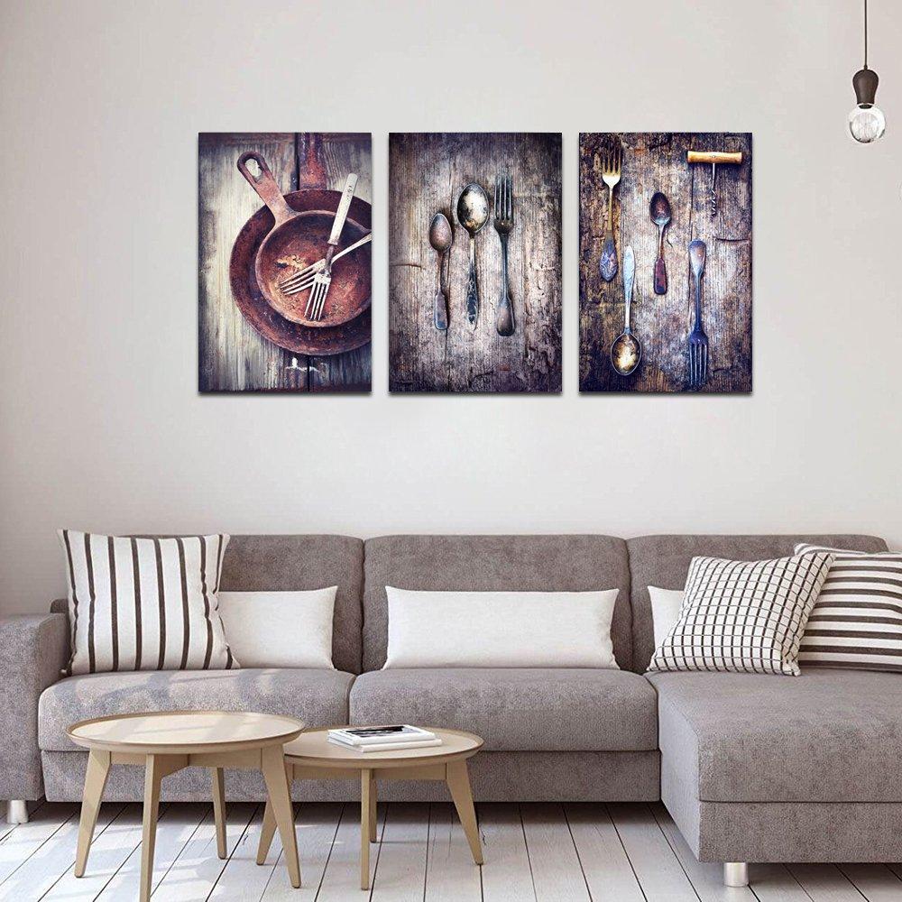 Amazon.com: levvarts 3 piezas lona pinturas Vintage ...