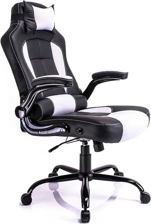 Aminiture de respaldo alto de cuero PU reclinable silla giratoria ...