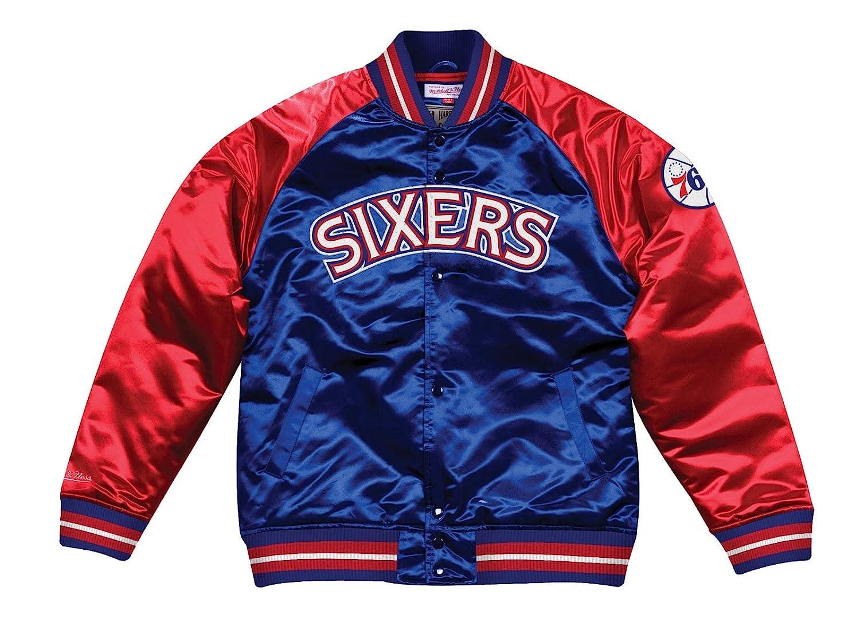 Mitchell & Ness フィラデルフィア76ers NBA タフシーズンレトロサテンジャケット メンズ XX-Large  B07J1T4QZN