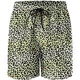 8de6625bea2f8 FullBo Leopard Cheetah Print Olive Green Men's Swim Trunks Quick Dry Beach  Shorts