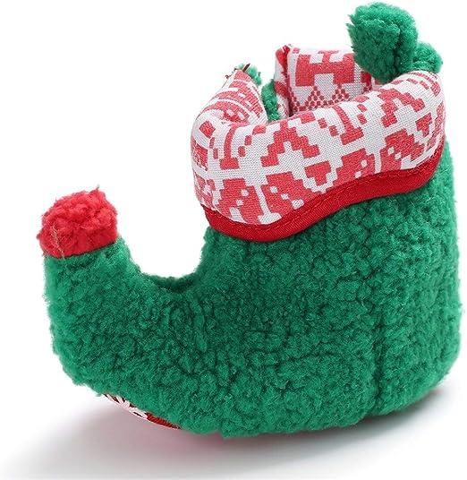YI-WAN Zapatos de bebé de Navidad Niños Niñas Ropa de algodón ...