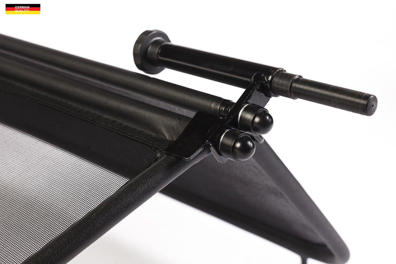 Deflector de Aire Parabrisas para descapotable con Cierre R/ápido Deflector de Viento Negro - Plegable TiefTech Deflector de Viento para Renault Megane 2 Descapotable 2004-2011