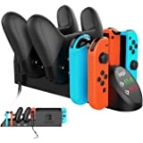FastSnail Charging Dock Compatible with Nintendo Switch Pro Controllers and Joy Cons, Multifunction Charger Stand…