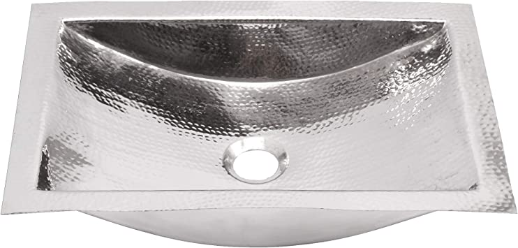 Nantucket Sinks Trs Hand Hammered Stainless Steel Rectangle Bathroom Sink Amazon Com