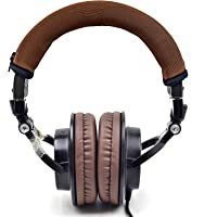 Defean Brown Headphone Protector Headband Fabric for Audio Technica M30 M40 M50 M50X M50S M40X Headphone(Brown Protector…
