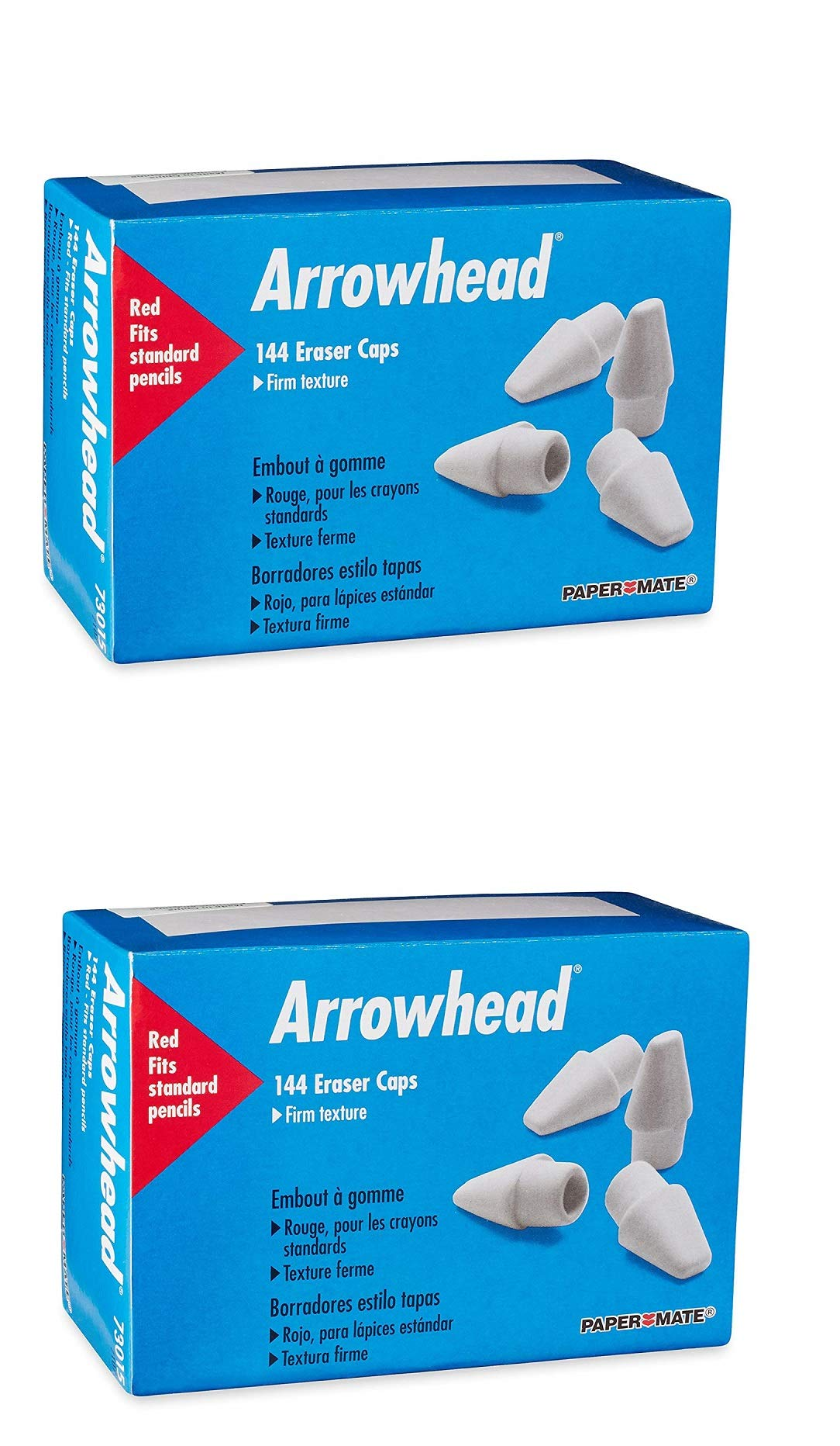 Arrowhead Pink Pearl Cap Erasers, 144 Count by Paper Mate