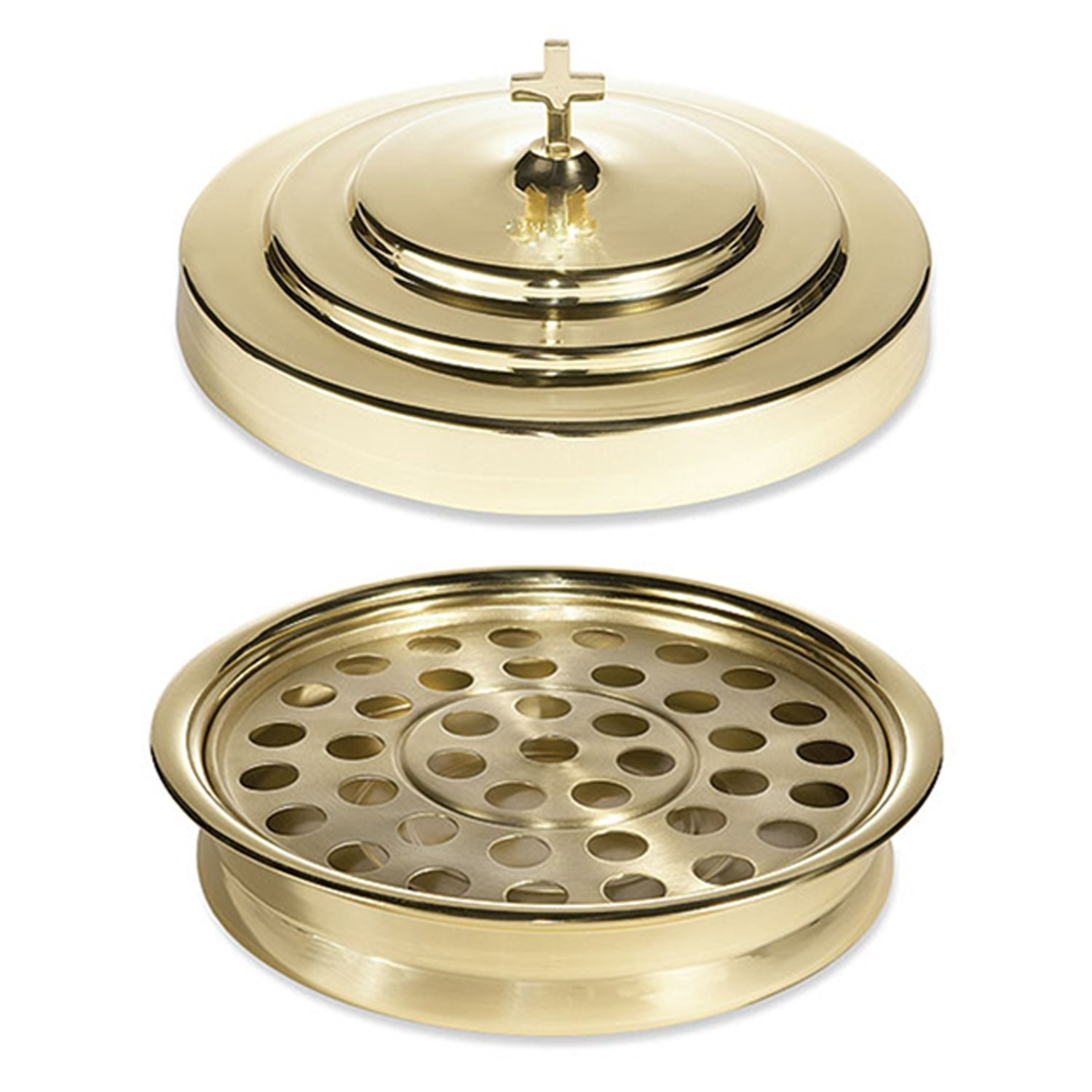 Solid Brass Communion Tray and Cover - Holds 40 Communion Cups by Living Grace by Living Grace