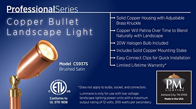 amazon com cs937s professional series copper bullet light garden