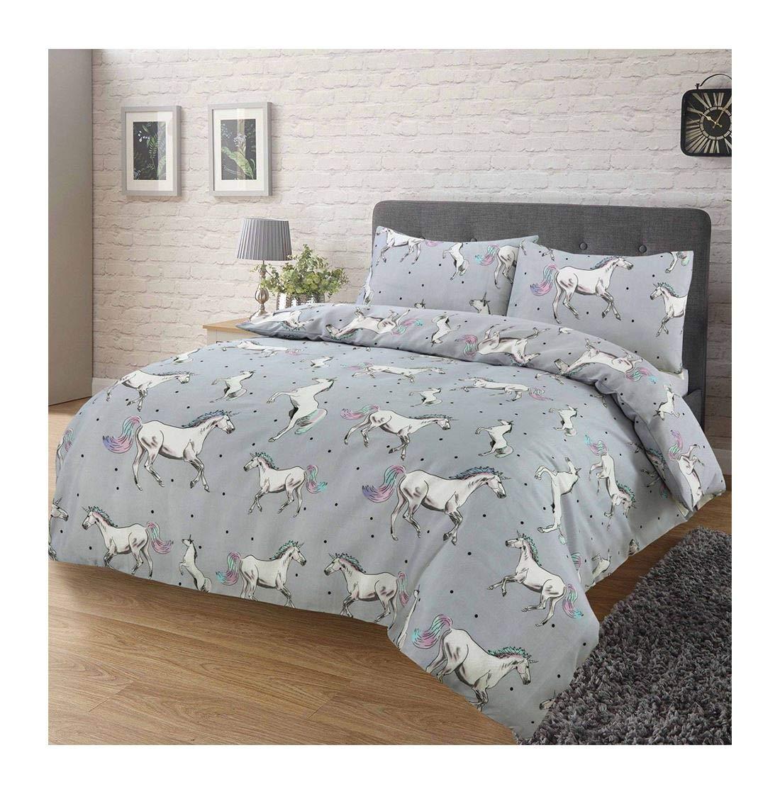 Soft Comfortable Katie Flamingo Li Corn Copenhagen Print Duvet Cover Bedding Set Copenhagen Mustard//Grey Double Size