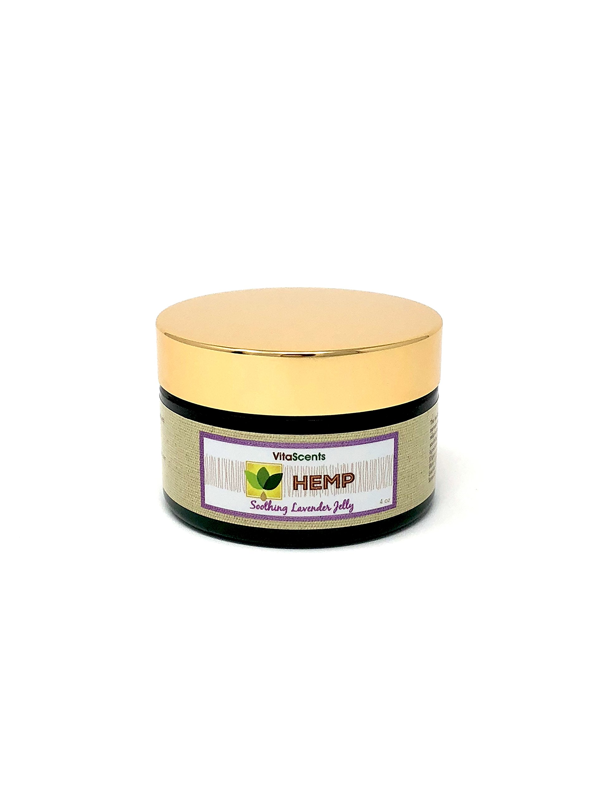 VitaScents Hemp Soothing Lavender Jelly for Muscular Pain Relief, 4 oz