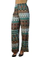 Alfa Global Junior's Soft Palazzo Printed Pants