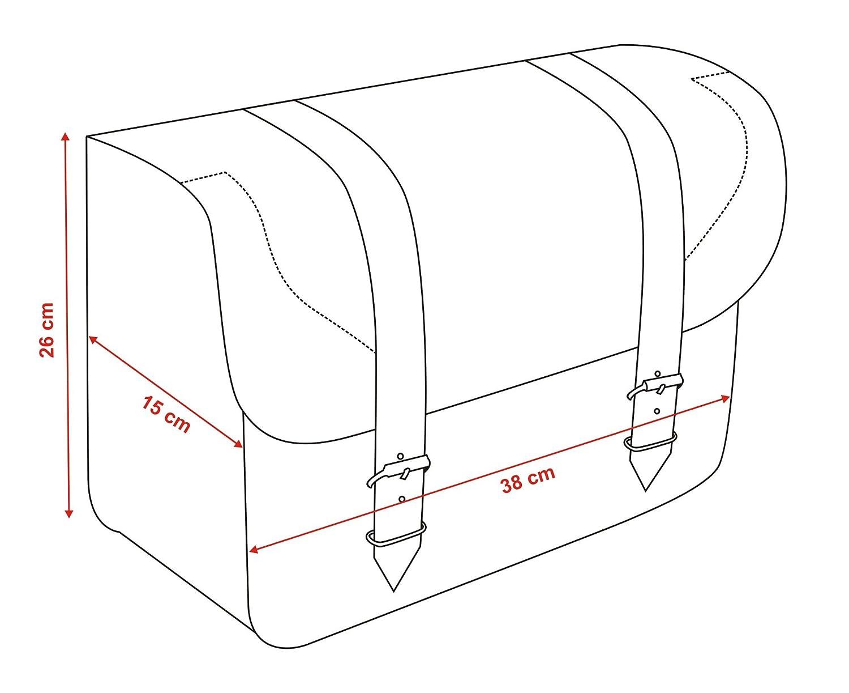 QUBE Satteltaschen f/ür Motorrad universell passend /Überwurf-Stil und Motorrad-Satteltaschen aus Leder