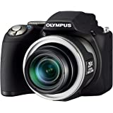 Olympus SP-590UZ Compact Digital Camera (12MP, 26x Wide Optical Zoom)