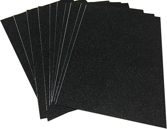 10 Hojas A4 Cartulinas Adhesivas de Colores Brillantes Cartulinas de Colores Papel Pegatina para Manualidades DIY Artcraft Trabajo Álbumes de Recortes Color Negro: Amazon.es: Oficina y papelería