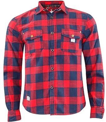 informazioni per 42692 62050 Jack South - Camicia da uomo in stile casual da boscaiolo, 100% in flanella  di cotone, di qualità, adatta per il lavoro