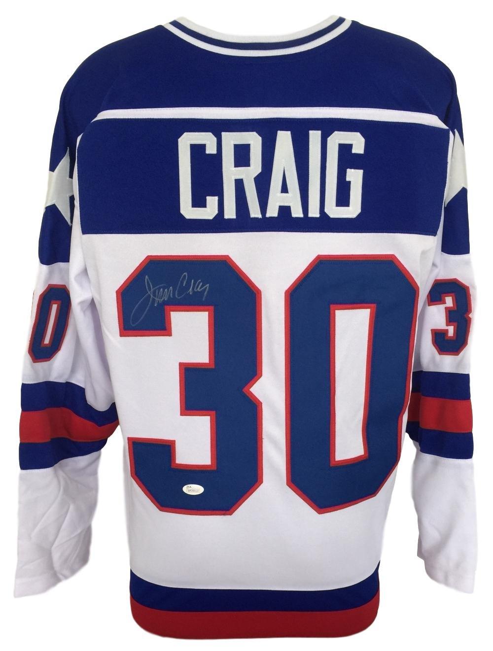 Jim Craig USA Signed Custom White 1980 Miracle on Ice...