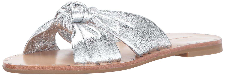 Loeffler Randall Women's Lucia Studded Knot Slide Sandal B01NAPVQB0 7.5 B(M) US Silver