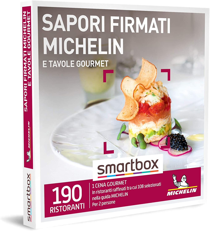smartbox - Cofanetto Regalo - Sapori firmati Michelin e Tavole Gourmet - Idee Regalo - 1 Cena Gourmet per 2 Persone