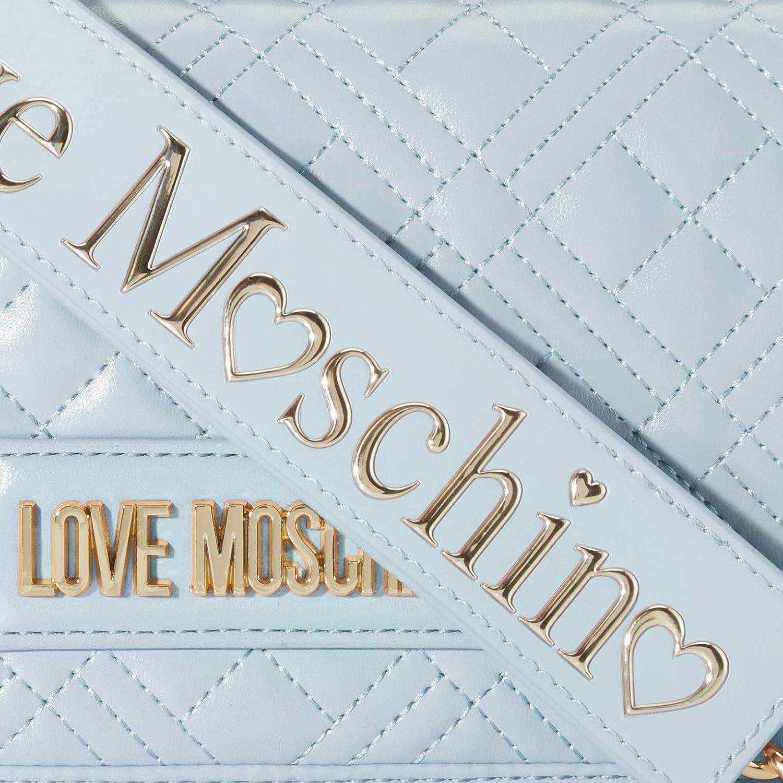 Love Moschino dam Jc4010pp1a handledsväska, 4 x 13 x 22 cm Blå (Nuvola)
