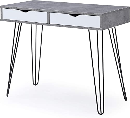 AC Pacific Laurel Grey Mid-Century Modern 2-Drawer Home Office Desk - the best modern office desk for the money