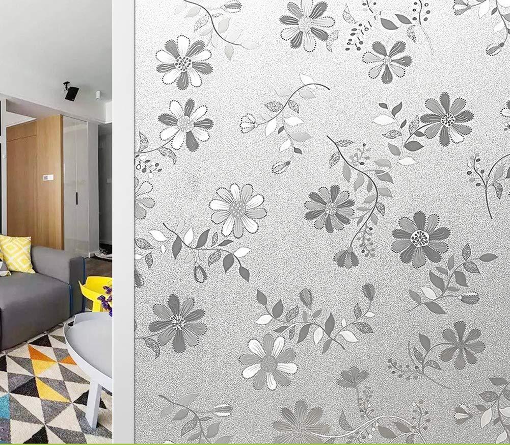 200CM Tang Self Adhesive Privacy Sliding Door Window Film Waterproof Sticker Decorative for Home Bathroom Office Meeting Room 90 x200cm-Style3-30