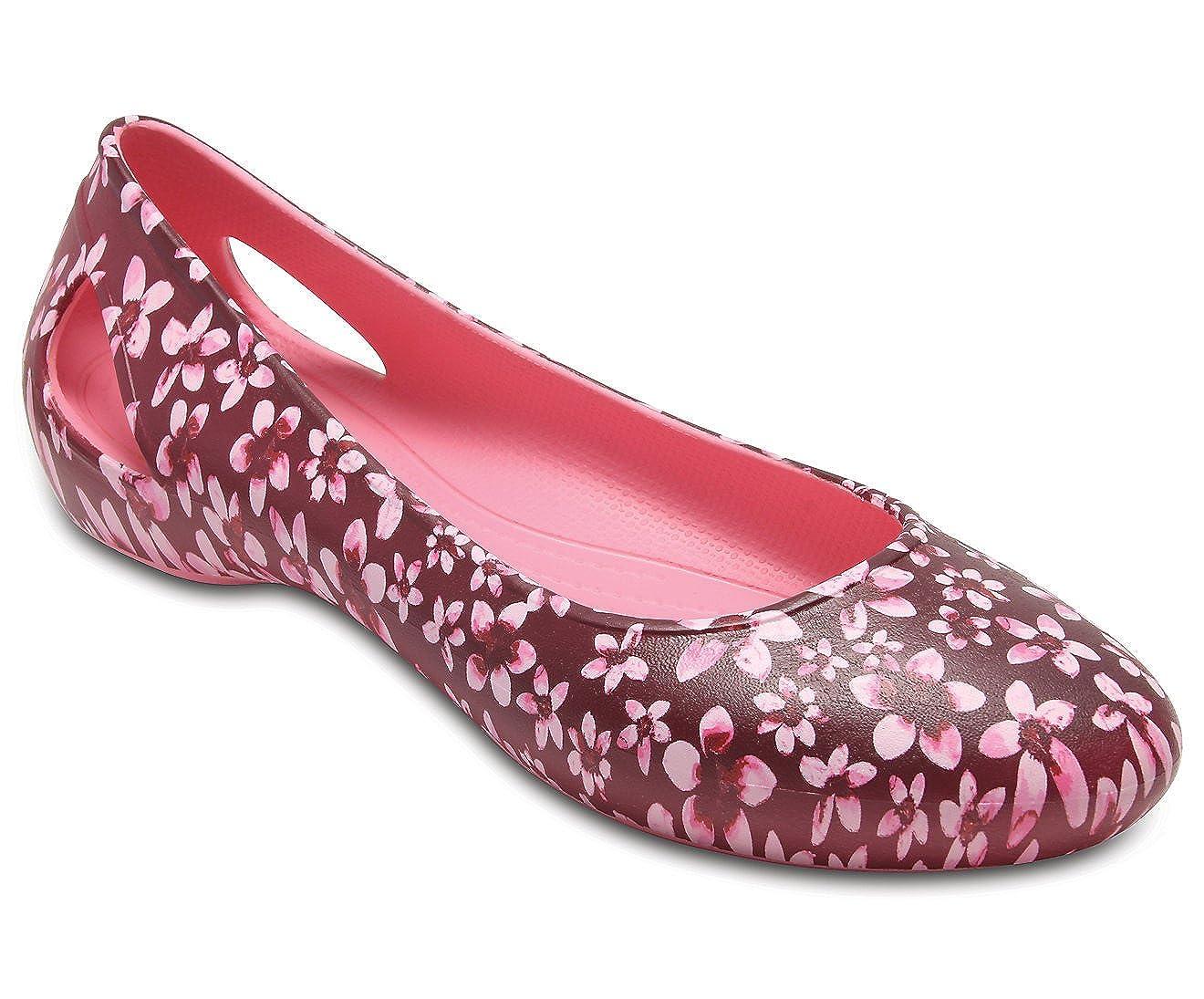 crocs Women's Croslite Rubber Ballet Flats