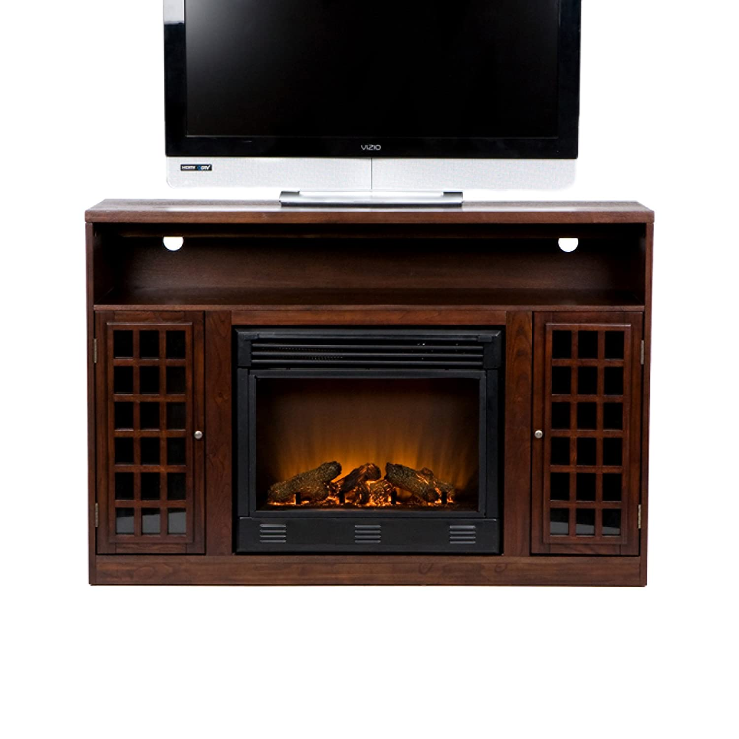 Amazon.com: Narita Media Electric Fireplace - Espresso: Kitchen ...