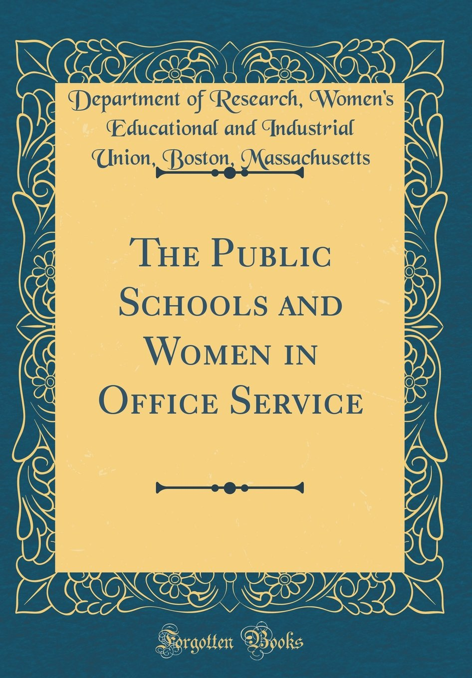 Download The Public Schools and Women in Office Service (Classic Reprint) pdf
