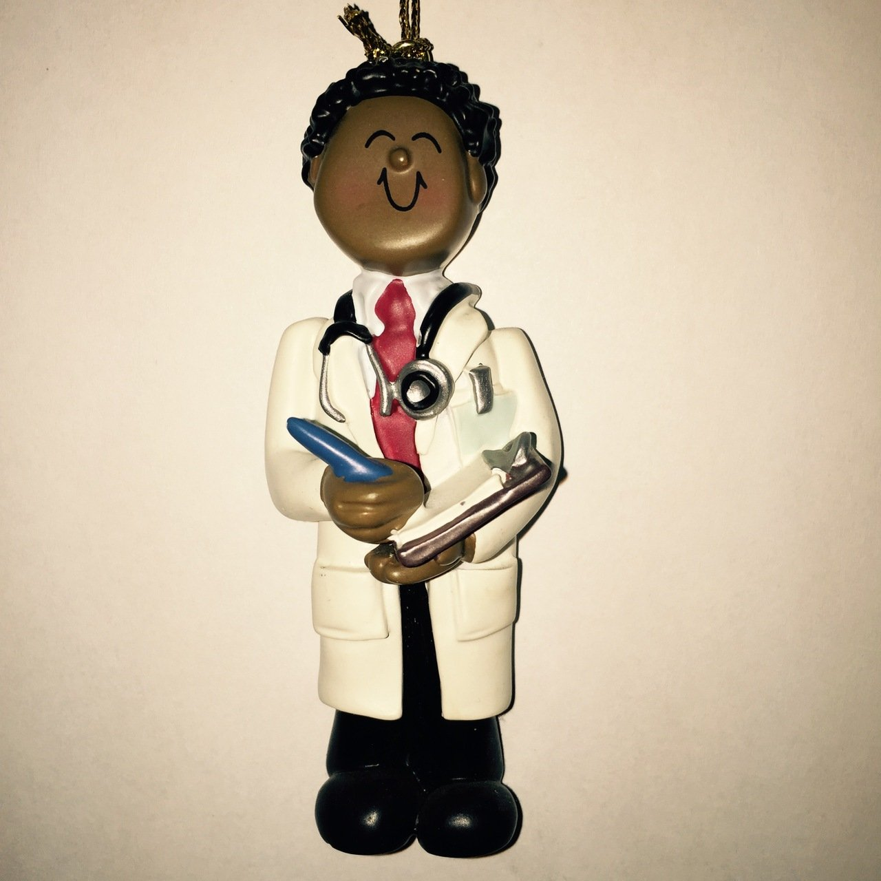 African/American Male Doctor Figurine