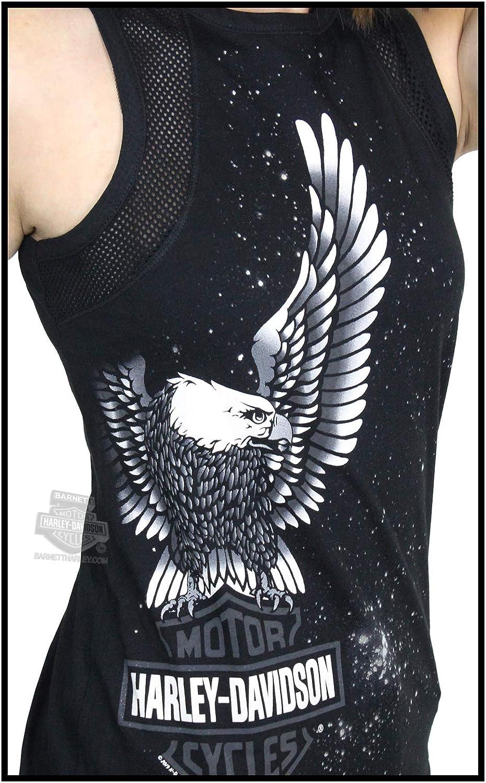Harley-Davidson Womens Universal Eagle B/&S Mesh Black Sleeveless Tank Large
