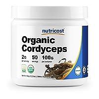 Nutricost Organic Cordyceps Powder 100 Grams - USDA Certified Organic, Non-GMO,...