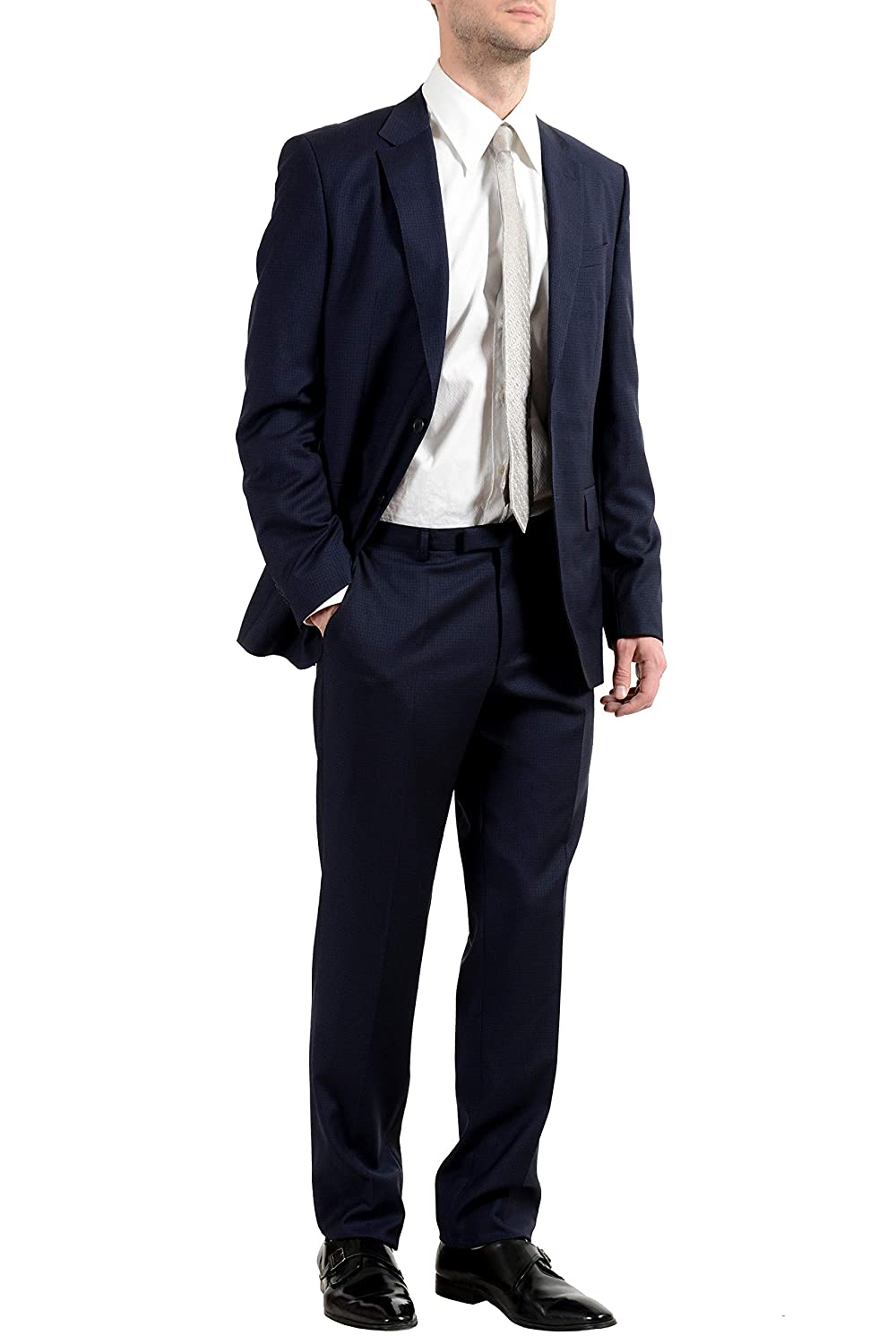 Hugo Boss Jewels1//Linus Mens 100/% Wool Blue Two Button Suit US 40R IT 50R