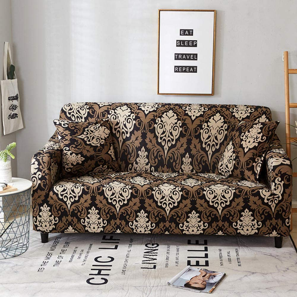 ZXL Sofa Cover Sofa Slipcover Pet Protector Anti-Slip Stain Resistant Machine Washable Furniture Protector Modern Corner Sofa Covers, Baroque 1 Seater:90-140Cm