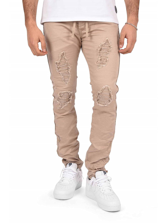 201bf45452d8 Project X Paris Jeans Slim Ceinture à Lacet Doublure Biker Homme