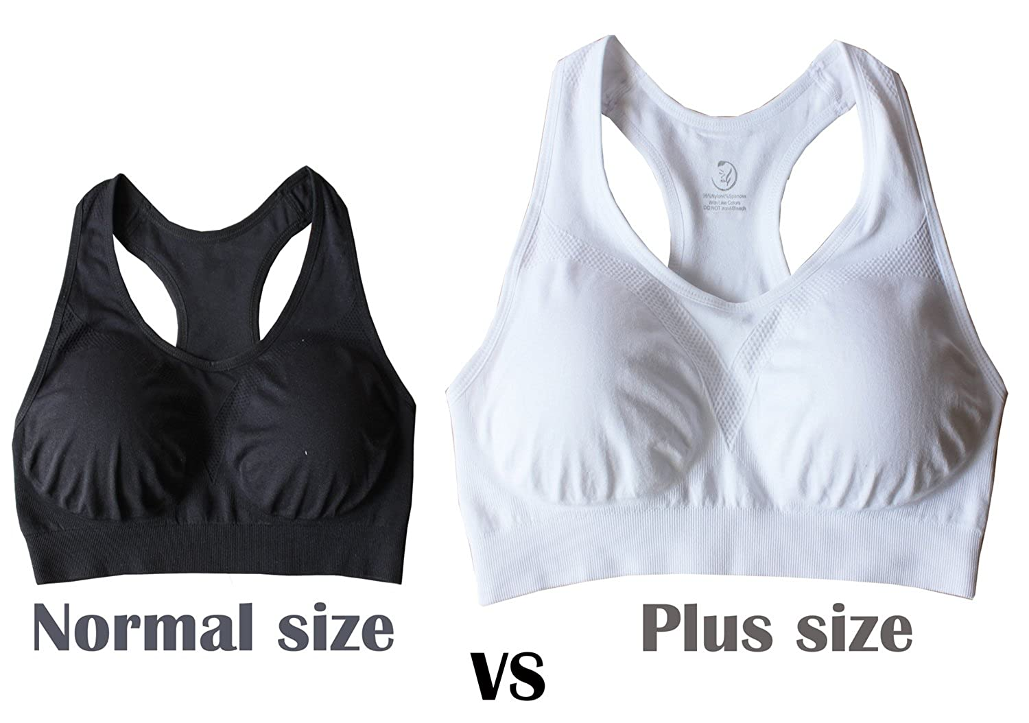 621143d84d6b1 Cabales KINYAOYAO Women s Plus Size Ultimate Comfy Medium Support Sport Bra  3 Pack at Amazon Women s Clothing store
